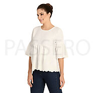 Passero Stylish Embroideried Cotton Linen Top | Summer Wear Top