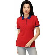Passero Polo Neck T-Shirt For Women | Polo Tees For Women