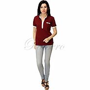 Passero Polo Neck Womens Tee Shirt | Sports Wear Tee Shirt For Women