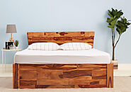 Support your back with Wakefit Wood Beds- Beds online
