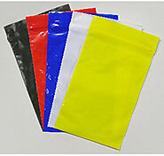 High Clarity Colored Slider Zipper Bags | GBE Packaging