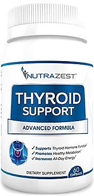 Nutrazest Thyroid Support Supplement - Boost Metabolism, Support Weight Loss, Increase Energy & Focus - with Iodine (...