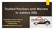 Packers and Movers in Jubilee Hills