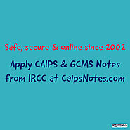 Is it safe to request GCMS Notes?