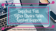 Big And Tall Computer Chairs With Lumbar Support