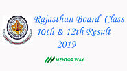 Rajasthan RBSE Board Result 2019 class X and class XII - MentorWay