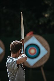 Hit your target at the archery or shooting range