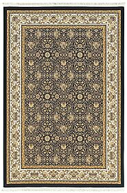 Traditional & Oriental Rugs Masterpiece 1331B Medium Blue Navy & Lt. Gold Colors Machine Made Rug