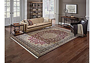 Traditional & Oriental Rugs Masterpiece 90R Red Burgundy & Medium Blue Navy Colors Machine Made Rug