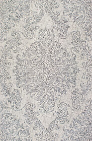 Traditional & Oriental Rugs Tulsi TU88 Silver Lt. Grey & Grey Colors Hand Tufted Rug