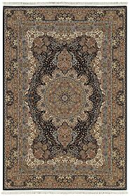 Traditional & Oriental Rugs Masterpiece 5501K Medium Blue Navy & Lt. Gold Colors Machine Made Rug