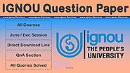 Previous Year & Sem question papers by ignou.Services
