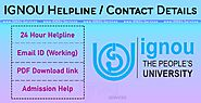 IGNOU Helpline Number Email ID, Complaint Details Provided By ignou.Services