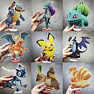 Anime Pokemon Acrylic Plates Action Figures | Shop For Gamers