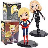 Black Widow And Captain Marvel Action Figure | Shop For Gamers
