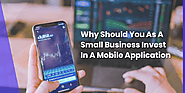Why Should You As A Small Business Invest In A Mobile Application