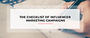 The Checklist of Influencer Marketing Campaigns