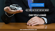 Instant Money Help With Car Equity Loans Victoria