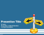 Follow Direction PowerPoint Template | Free Powerpoint Templates