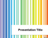 Colored Lines PowerPoint Template | Free Powerpoint Templates