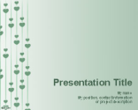 Rain of Hearts PowerPoint Template | Free Powerpoint Templates