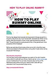 How to play online rummy?