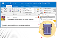 How To Delete A Sent Email In Outlook?