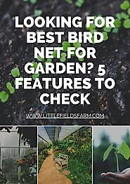 [PDF]Looking for Best Bird Net For Garden? 5 Features to Check - @SlideServe