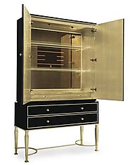 Buy Caracole Debut Aficionado Home Bar Cabinet At Grayson Luxury