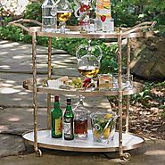Buy Global Views Arbor Bar Cart In Brass At Grayson Luxury