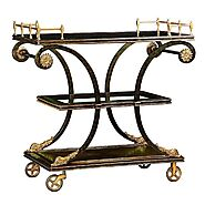 Marge Carson Rivoli Serving Cart | Luxury Bar Cart | Grayson Luxury