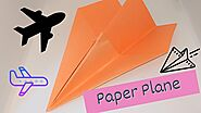 How to make a paper airplane - Origami paper plane