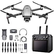 DJI Mavic 2 Pro - Drone Quadcopter UAV with Smart Controller with Hasselblad Camera 3-Axis Gimbal HDR 4K Video Adjust...