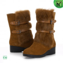 Womens Fur Leather Snow Boots CW332101 - M.CWMALLS.COM