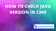 How to Check Java Version in Cmd - LearnProgramo